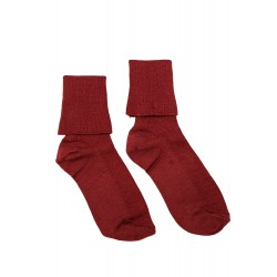 Maroon ankle socks