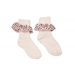 Girls Floral Trimmed Socks