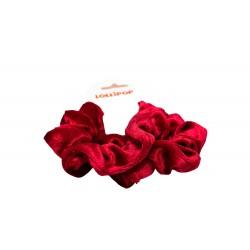 Maroon Velvet  Scrunchie